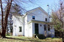 Front of White 1841 Germantown Farmhouse