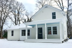 Renovated 1860s Livingston Farmhouse in Snow