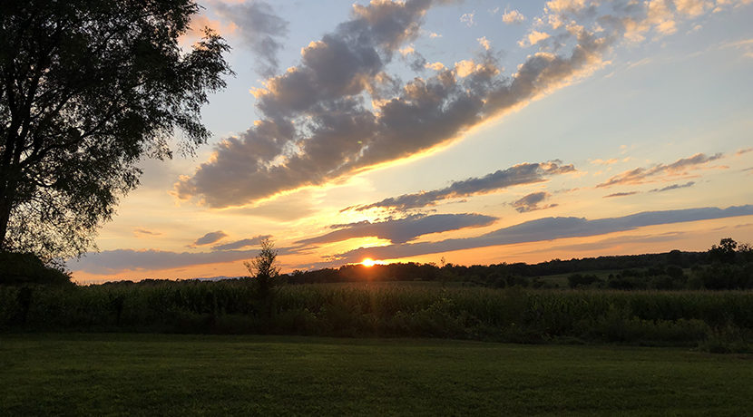 Bell Claverack sunset view