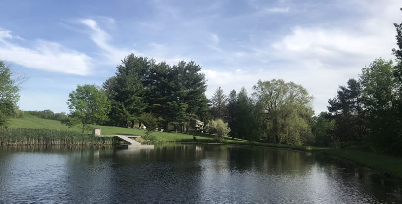 Ranch with swimming pond, Catskill views